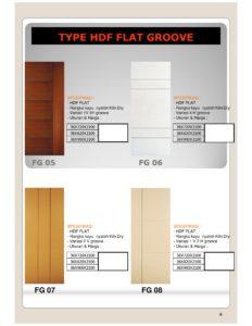 Pintu Excellent HDF Groove Door