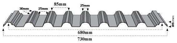 Jual Atap Union Deck 680