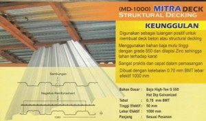 BONDEK / FLOORDECK / DECKING,Mitra Roof Bondek