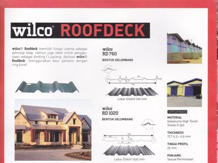 Atap Zincalume-Galvalume murah,Wilco roofdeck