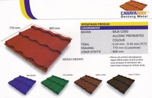 Tipe Genteng Metal Berkualitas,Cahaya Roof