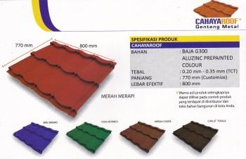 Jual Genteng Metal Multi Roof Surya Roof Sakura Roof Cv