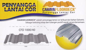 BONDEK / FLOORDECK / DECKING,Floordeck CFD 1000-40
