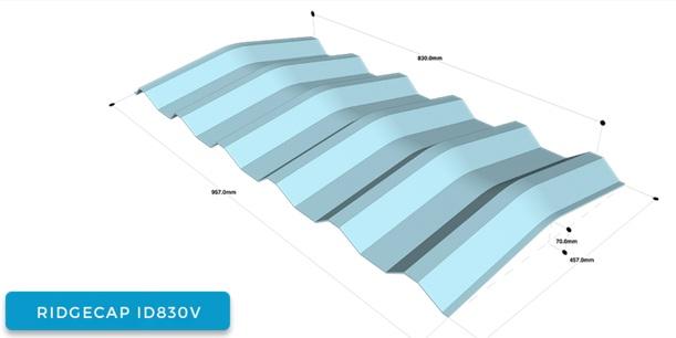 Atap uPVC Alderon,RIDGECAP