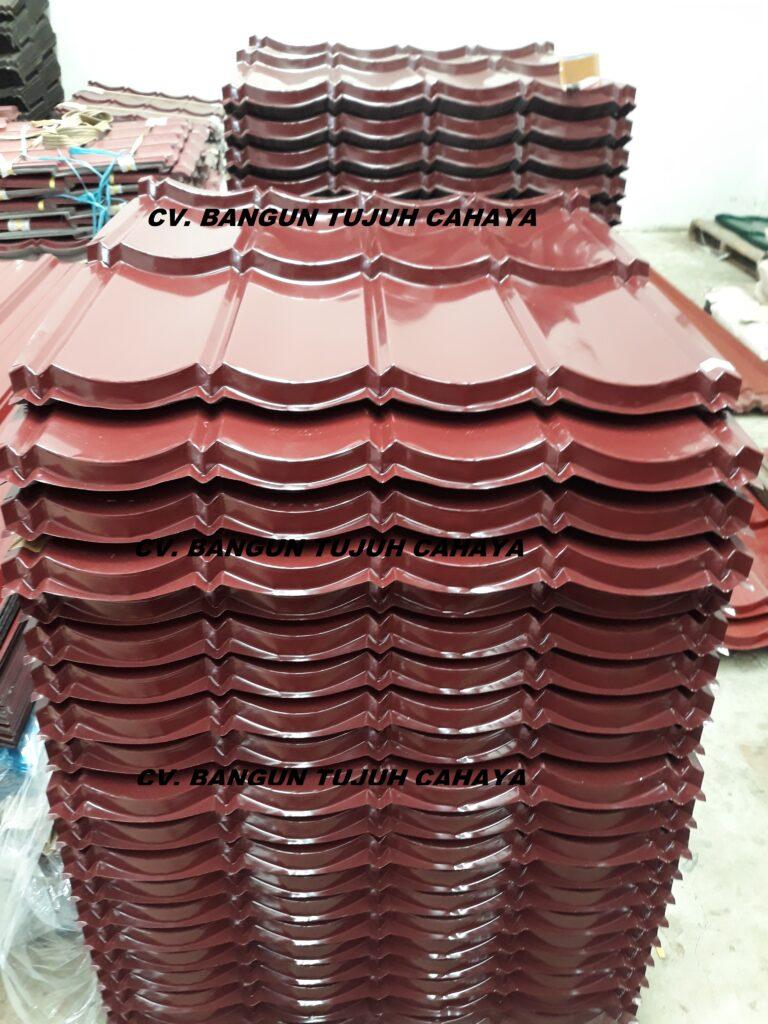 Genteng Metal Warna maron